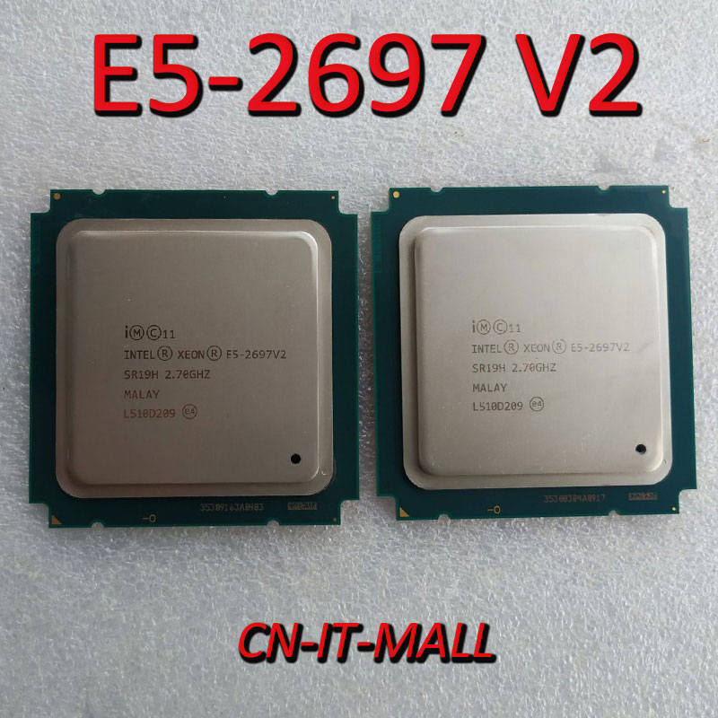 Pulled E5-2697 V2 Server Cpu 2.7G 30M 12Core 24 Thread LGA2011 Processor