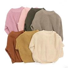 Outwears Sweaters Knited Warm Soft Baby-Boys-Girls Korea-Style Kids Winter Tops Long-Sleeve