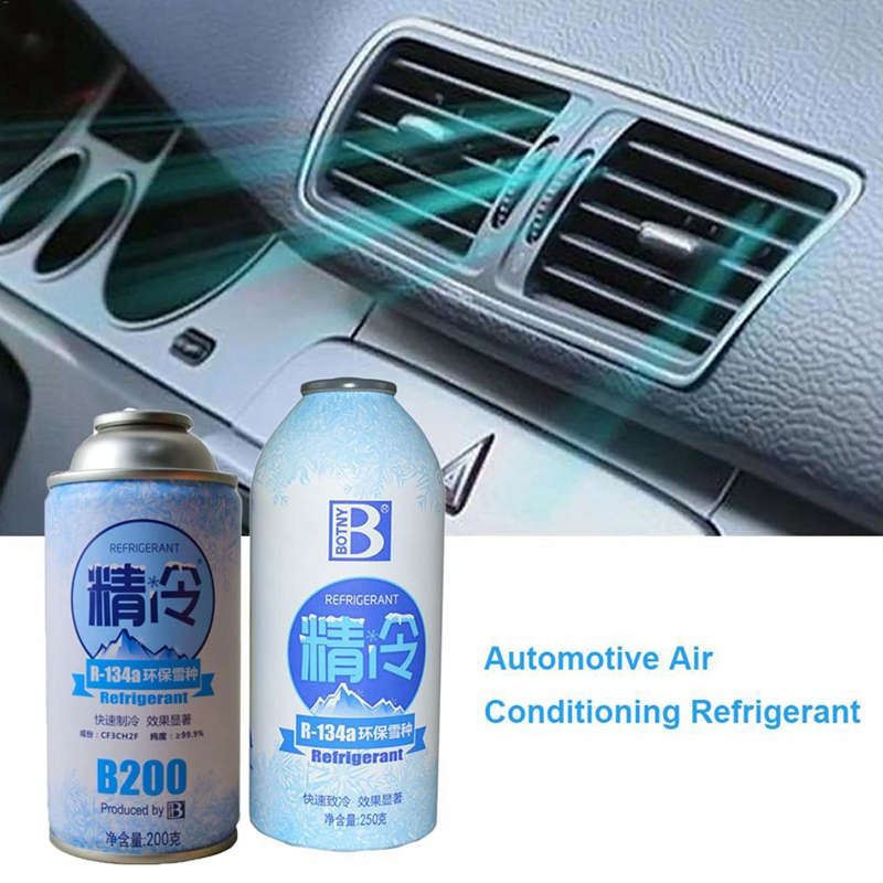 R134A Seal Automotive Snow Species Refrigerant Fast Cooling Cans Eco-Friendly Vehicle High Purity Air Conditioning 200G