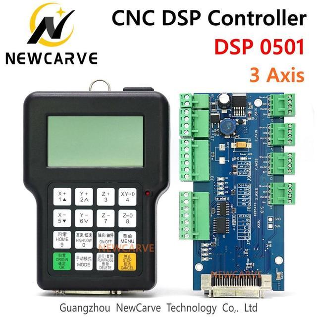 Controlador DSP RZNC 0501, sistema de 3 ejes 0501 para enrutador Cnc DSP0501 HKNC 0501HDDC, mango remoto, versión en inglés, Manual NEWCARVE