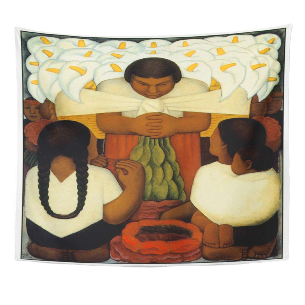 Fine Diego Rivera Choose Your Famous Artist Flowers Tapestries