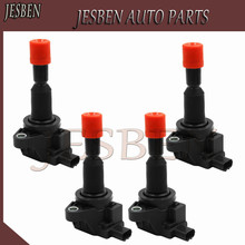 4X Ignition Coil fit For HONDA AIRWAVE FIT II JAZZ 1.3L 1.5L 2002 08 30520 PWC 003 30520 PWC S01 30520 PWC 013 CM11 110 CM11110