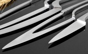 Image 5 - XITUO mutfak bıçağı 4 adet set çok pişirme aracı paslanmaz çelik dayanıklı şef bıçağı yemek ve Bar benzersiz özel tasarım bıçak seti