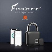 Padlock Tuya Bluetooth Fingerprint Smart Thumbprint Quick-Unlock Keyless for Bicycle-Warehouse
