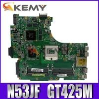 Akemy N53JF mainboard For Asus N53J N53JN N53JG N53JF N53JL laptop motherboard Test work 100% original W/ GT425M