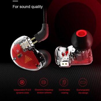 ¡Novedad! Auriculares QKZ VK5, 4 unidades, con aro móvil, graves fuertes en la oreja, auriculares con cable, conector Jack de 3,5mm, auriculares para Smartphone MP3