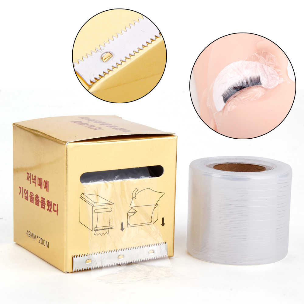 1 Pcs Wimpers Remover Microblading Clear Plastic Wrap Eye Gebruik Conserveermiddel Film Extension Wimpers Permanente Make-Up Tool