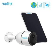 Reolink ir 3g/4g rede móvel ip câmera recarregável bateria alimentado câmera de vigilância de segurança 100% fio-livre