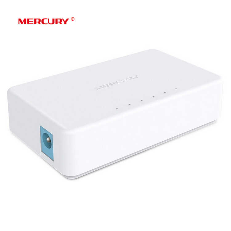 Switch Ethernet MERCURY S105C, Mini Switch di rete Ethernet Desktop a 5 porte, Hub LAN 10/100Mbps, piccolo, Plug and Play, configurazione semplice