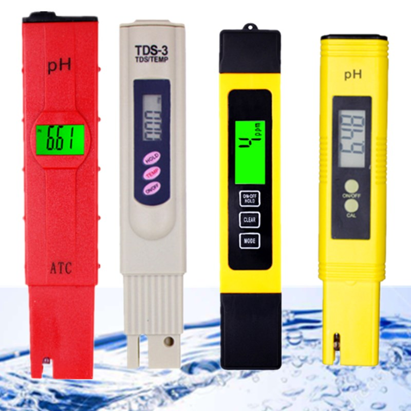 High Accuracy Portable Water Quality PH Tester Pen for Household Drinking Lab School Pool Aquarium Water PH-10 Digital PH Meter