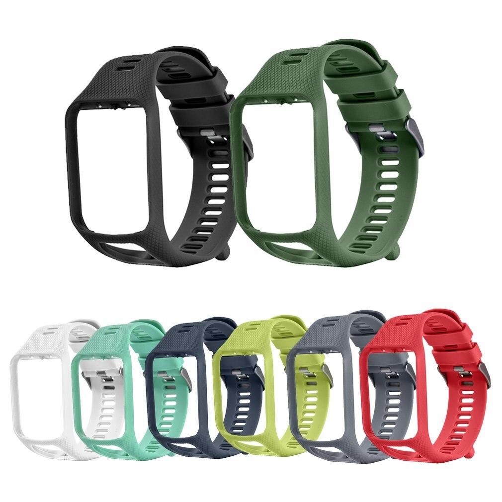 Купить с кэшбэком Band For TomTom 1 Multi-Sport GPS HRM CSS AM Cardio Runner Watch Silicone Soft Strap Bracelet Wristband