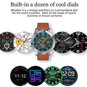Image 2 - LYKRY DT98 שיחת Bluetooth חכם שעון מלא מסך מגע IP68 עמיד למים PPG קצב לב לחץ דם צג עבור xiaomi huawei