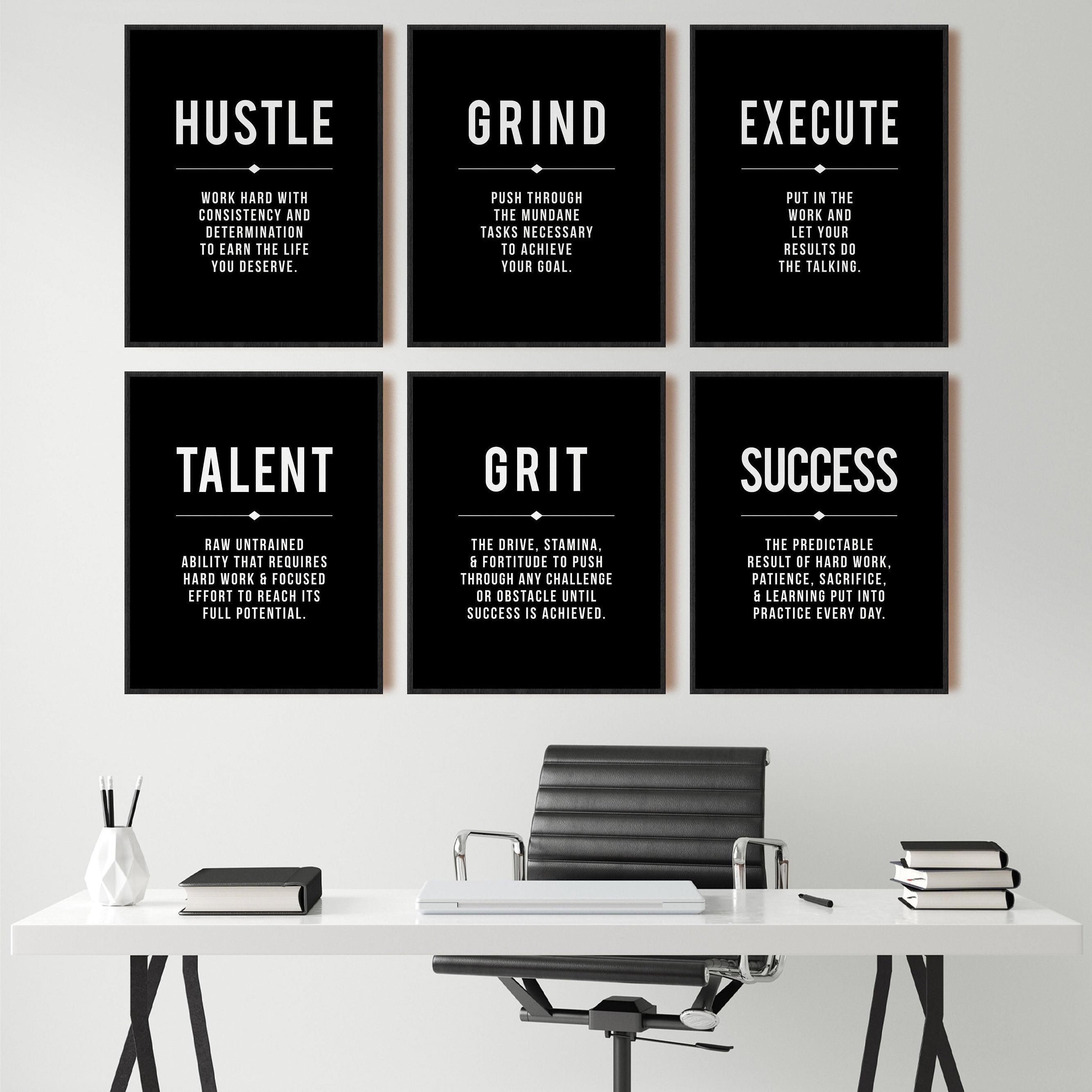 Художественные постеры и принты для офиса, современное искусство, мотивация предпринимателя, холст для рисования