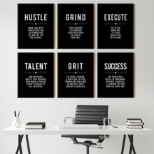 Grind Hustle Success Motivational Posters and Prints Office Decor Modern Art Entrepreneur Motivation Canvas Painting Pictures