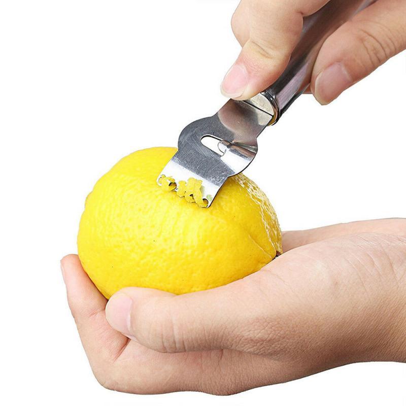 1 шт. нож для чистки лимонов нержавеющая сталь Zester Терка гаджеты для кухни вкус цитрусовых Терка нож для овощей бар кухонные принадлежности