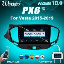 2 din Android 10 car radio PX6 for LADA Vesta Cross sport 2015 2019 auto audio multimedia Navigation 2din car stereo GPS screen