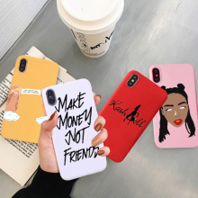 GYKZ Fashion Make Money Not Friends Phone Case For iPhone 7 XS MAX XR X 10 8 6 6s Plus Funny Girl Soft Silicone Back Cover Coque