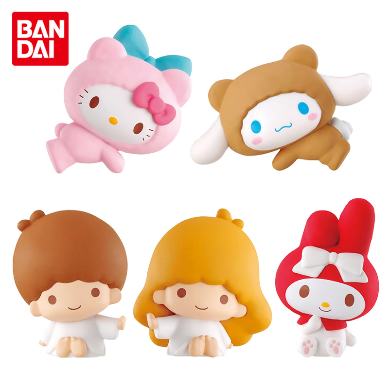 Bandai Genuine Gashapon Toy HelloKitty Character Hug Data Cable Line Protector Doll Melody|Action Figures| - AliExpress