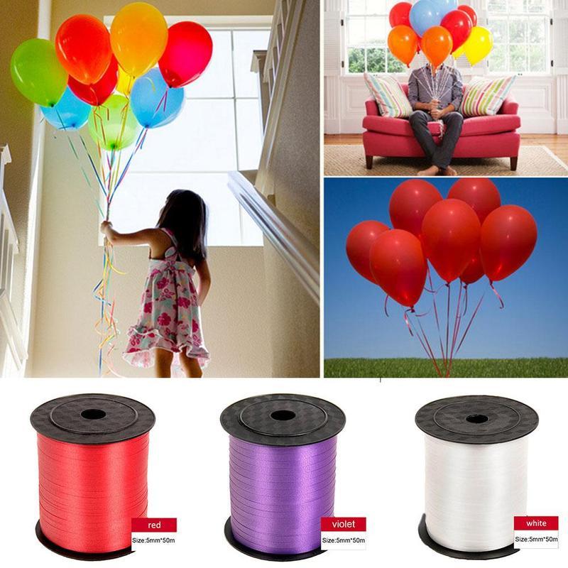 Украшения для дня рождения, поделки, завивка из фольги, 250 ярдов, разные цвета, 5 мм, лента для воздушных шаров, рулон, «сделай сам», подарки, св...