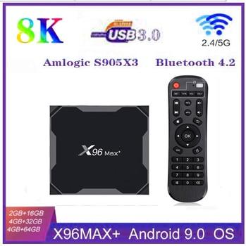 Android 9.0 X96 Max Smart TV Box  4GB 64GB 32GB Amlogic S905X3 Quad Core 5.8GHz Dual Wifi 1000M 4K 60fps Set Media Player x96