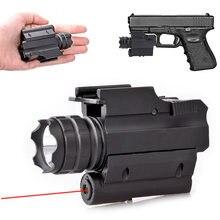 Тактический светодиодный фонарь для оружия красный точечный
