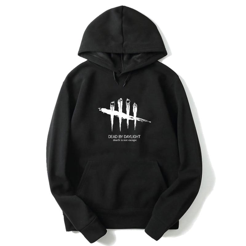 Dead By Daylight Hoodies Streetwear Sweatshirt Men Harajuku Black Hoodie Oversized Hoodie Winter Pullover Long Sleeve Clothes