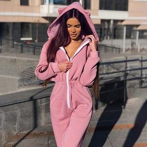 Kayulai 2019 novo bodysuit feminino pulôver moletom casual magro manga longa outono inverno bodycon combinaison femme