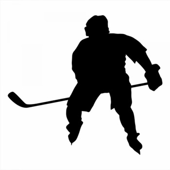 18x16cm Ice hockey Sportman Boy Stickers athlete Lover Car Window Glass Body Decoration Decal Accessories CL321 image