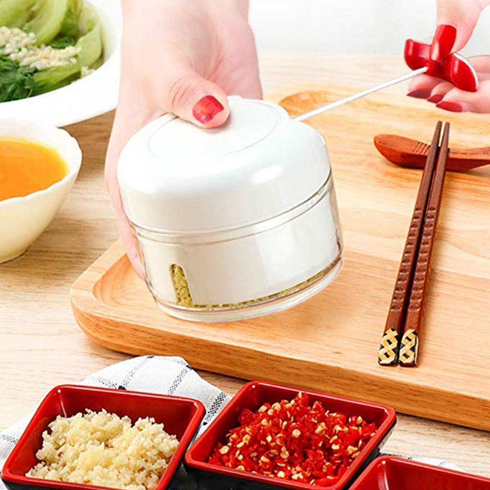 Manual Food Chopper Mini Gralic Grinder Press Mincer Food Processor For Chili Ginger Vegetable Fruits PUO88