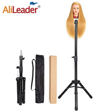 Alileader-trípode para peluca para cabeza de maniquí, soporte para peluca, ajustable, color negro