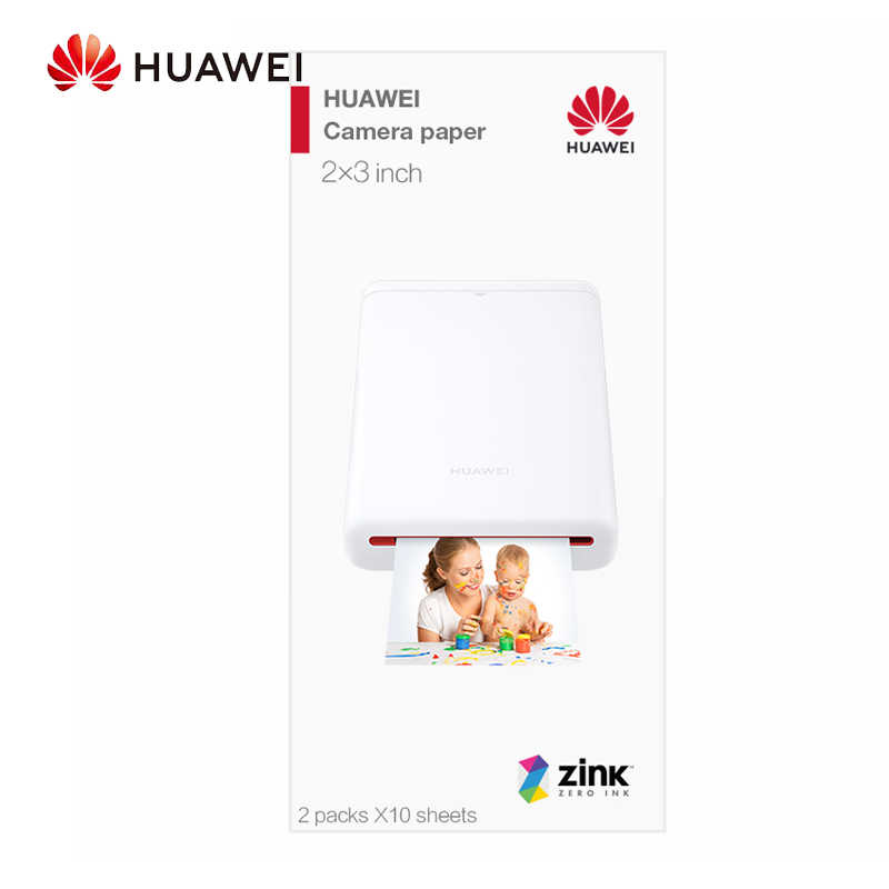 Asli Huawei AR Portable Foto Saku Zink Printer Diy Bagikan Paper Bluetooth 4.1 20 Per Pack