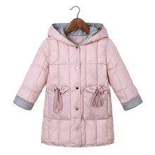 Зимние теплые куртки с подкладкой для девочек; модная детская плотная верхняя одежда; Детская осенняя одежда; От 3 до 10 лет куртка с капюшоном для маленьких девочек; пальто