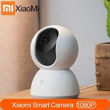 Xiaomi cámara inteligente MI Mijia, Original, 1080P, cámara web, videocámara, ángulo de 360, wifi, visión nocturna inalámbrica para Mi home