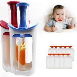 Nieuwe Baby Fruit Sap Voedsel Maker Squeeze Voedsel Station Biologisch Voedsel Voor Pasgeboren Verse Fruit Container Opslag Babyvoeding Maker