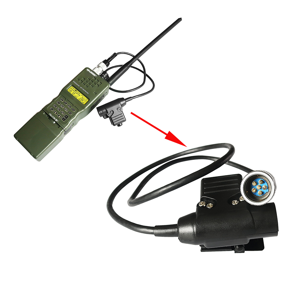 U94 PTT 6 Pin Military Walkie-talkieTactical Headset Adapter For AN / PRC 152 PRC 148 PTT