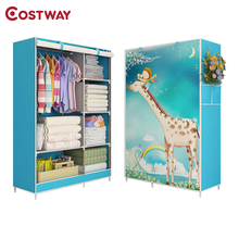 COSTWAY armadio in tessuto per vestiti pieghevole armadio portatile armadio di stoccaggio camera da letto mobili per la casa armario robero muebles