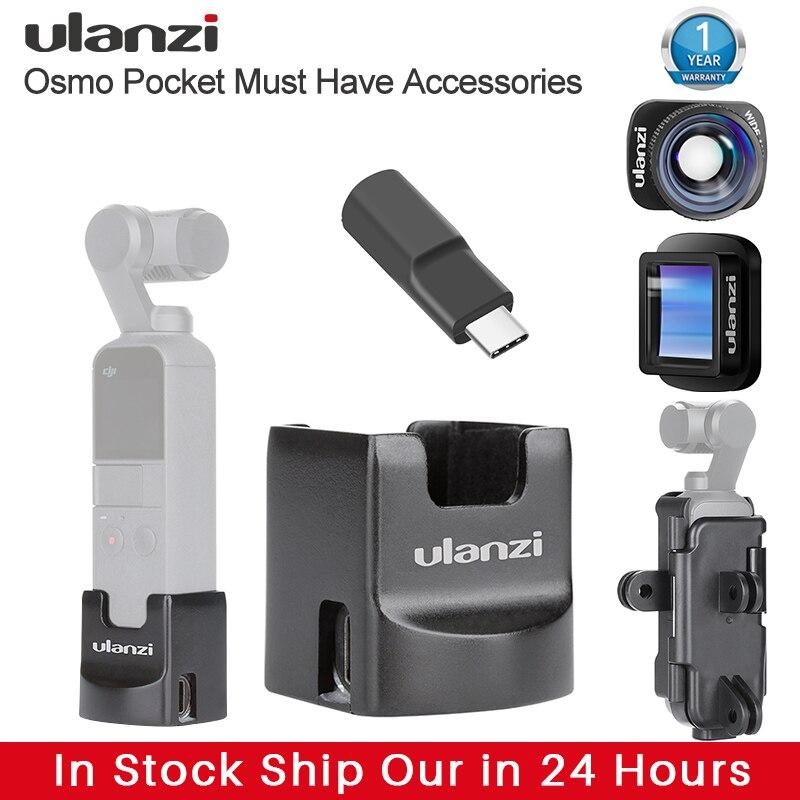 Ulanzi Osmo карманные аксессуары Gimbal Wifi базовое крепление HD 4K 1.33X анаморфный широкоугольный объектив Type C зарядка Adater Vlog крепление|Аксессуары для систем стабилизации|   | АлиЭкспресс