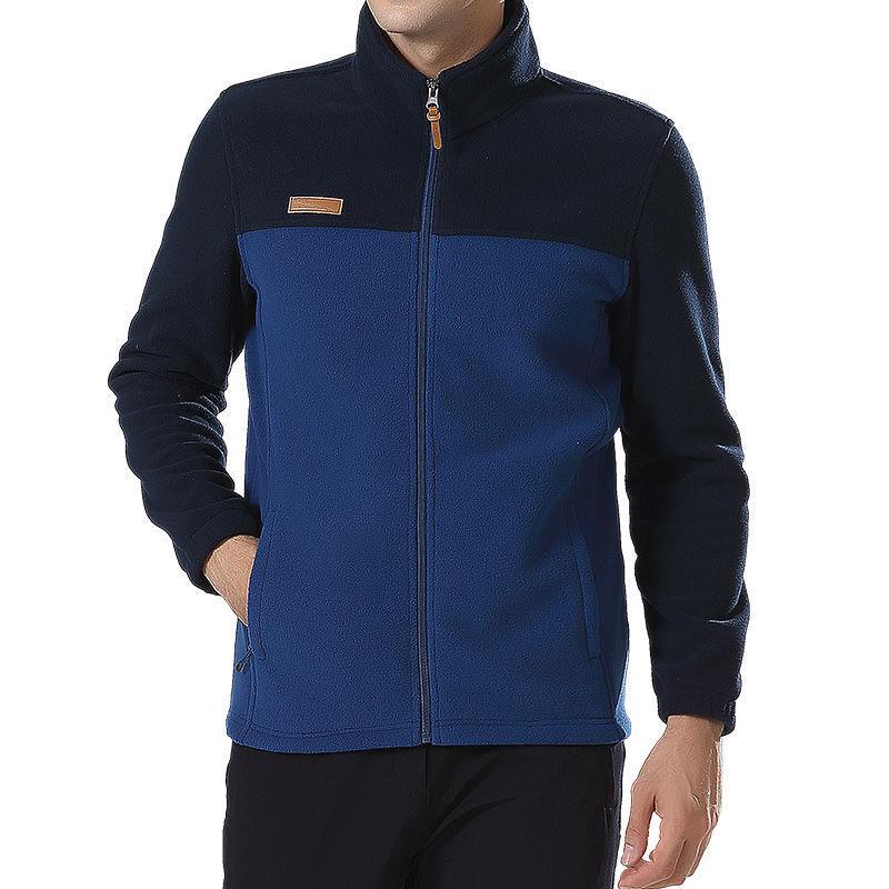 Men's clothing Coat Men Thicken Warm Army Fleece Jacket Patchwork Multi Pockets Polartec Men's Jacket and Coats windbreaker men
