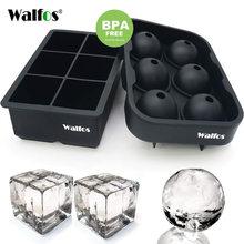 Walfos большой размер 6 ячеек форма для льда силиконовая кубики