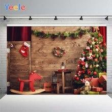 Yeele Рождественская елка шар фото фон Фотофон чулок троянская