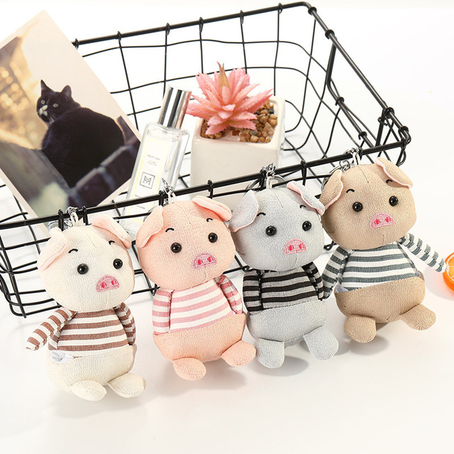 Porker poupée porte-clés quatre couleurs jouets enfants copines porte-clés cadeau en peluche peluche cochon poupée porte-clés sac pendentif