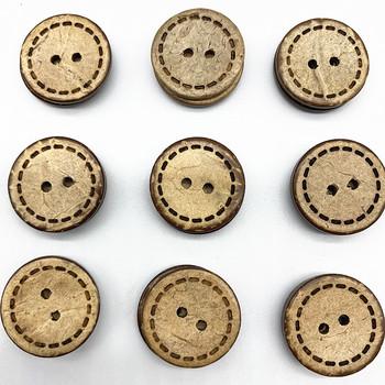 New13mm 15mm 20mm kokosowy guzik drewniany dodatki odzieżowe do dekoracji ślubnych akcesoria do szycia tanie i dobre opinie WPQQHYGT 2-otwory przycisk CN (pochodzenie) Drewna NONE flatback Przyjazne dla środowiska Do prania na sucho Nadające się do prania
