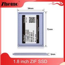 Zheino ssd de 1.8 ''zif/ce 40 pinos, 32gb 64gb 128gb mlc smi controll 5mm disco rígido de estado sólido,