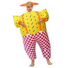 Adulto feliz palhaço inflável traje de natal dia das bruxas ano novo trajes para homens feminino funnly carnaval festa cosply vestir-se