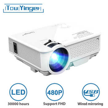 Mini proyector LED TouYinger M4 portatil proyectores de cine, reproductor multimedia portátil miniproyector, M4A proyector para movil celular home cinema