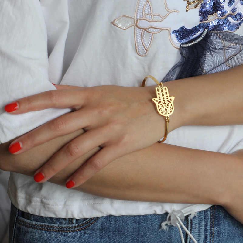 Hapiship Gold สีสแตนเลสรอบหัวใจ Love สร้อยข้อมือกำไลข้อมือผู้หญิงผู้ชายเครื่องประดับของขวัญ Pulseras Mujer Brazaletes BX35