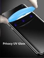 УФ надежное закаленное стекло для samsung Note9 8 Note10 pro Полное жидкое антибликовое Защитное стекло для Galaxy S8 S9 S10e Plus Glas