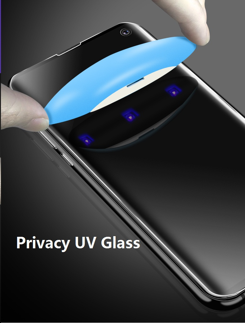 UV Privacy Tempered Glass For Samsung Note9 8 Note10 pro Full Liquid Anti Glare Screen Protector For Galaxy S8 S9 S10e Plus Glas Phone Screen Protectors Cellphones & Telecommunications - title=
