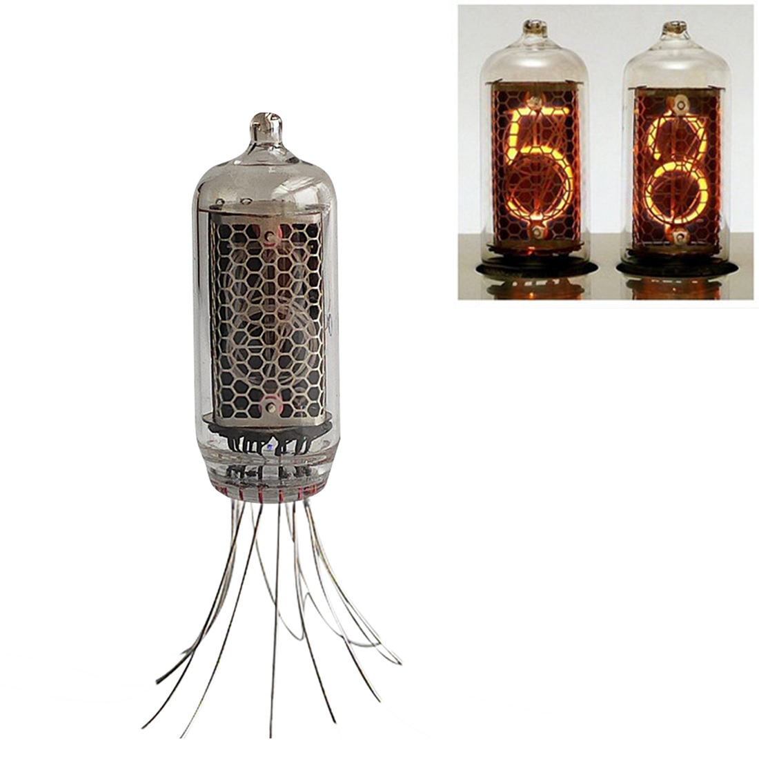 DIY Electronic Vacuum Tube IN-8-2 Glow Tube For Glow Tube Clock Base For Children Kids Developmental Early Educational Toys Gift