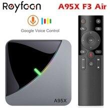 안드로이드 9.0 RGB 라이트 스마트 TV 박스 Amlogic S905X3 USB3.0 1080P H.265 4K 60fps 와이파이 구글 플레이어 유튜브 A95X F3 에어 8K TVBOX